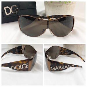 Dolce & Gabbana DG2005 tortoise wrap sunglasses